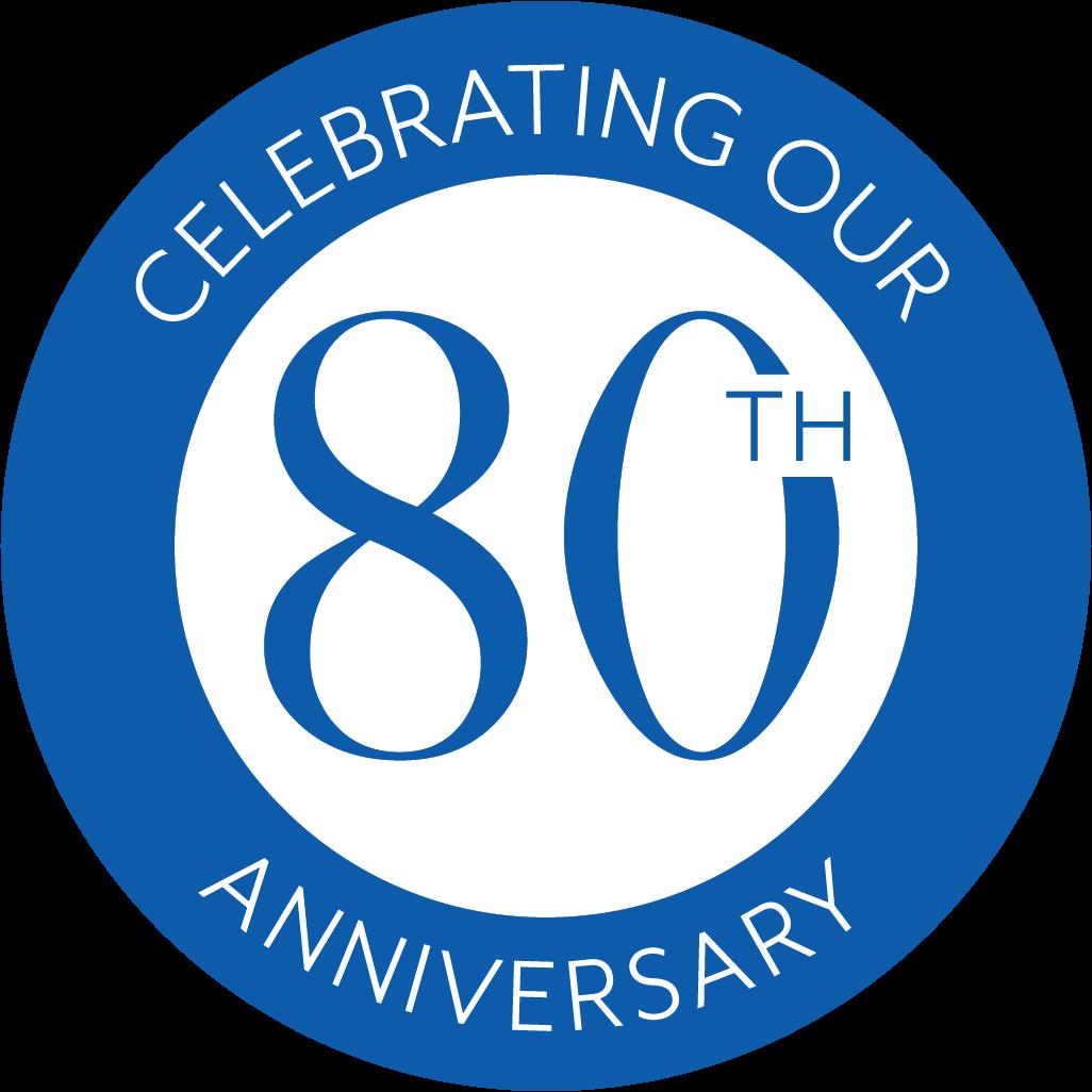 80 year logo